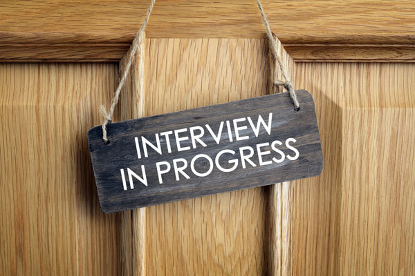 Interview in Progress graphic